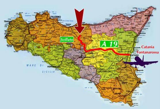Cartina Ferroviaria Sicilia.Indicazioni Per Raggiungere L Agriturismo Santa Venera Di Palermo
